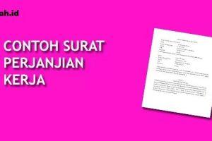 Contoh Surat Kontrak Kerja Yang Terbaru
