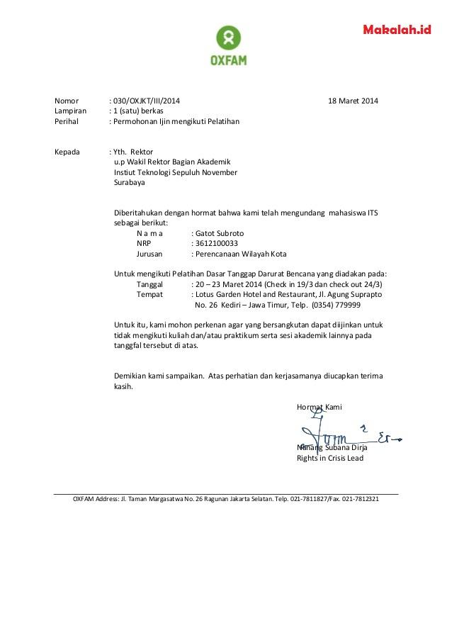Surat Permohonan Izin Kegiatan Bantuan Dan Sekolah Format Dan Contoh Surat