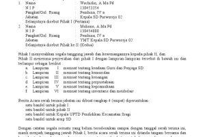 Contoh Surat Terima Jabatan Kepala Sekolah