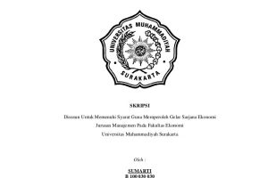 Judul Skripsi Ekonomi Syariah Menarik