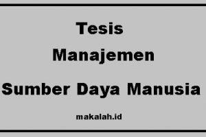 esis Manajemen Sumber Daya Manusia