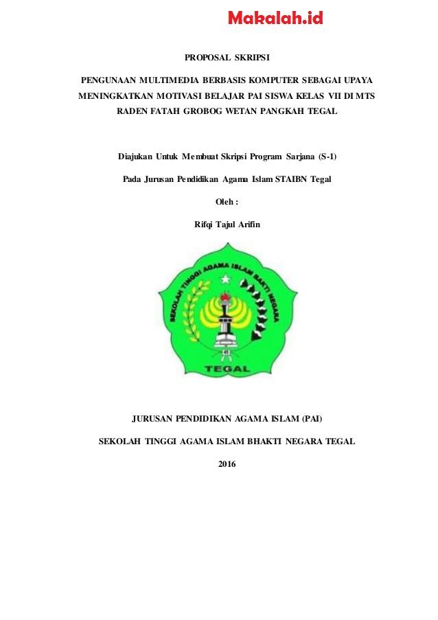 Contoh Proposal Penelitian Skripsi Fakultas Tarbiyah
