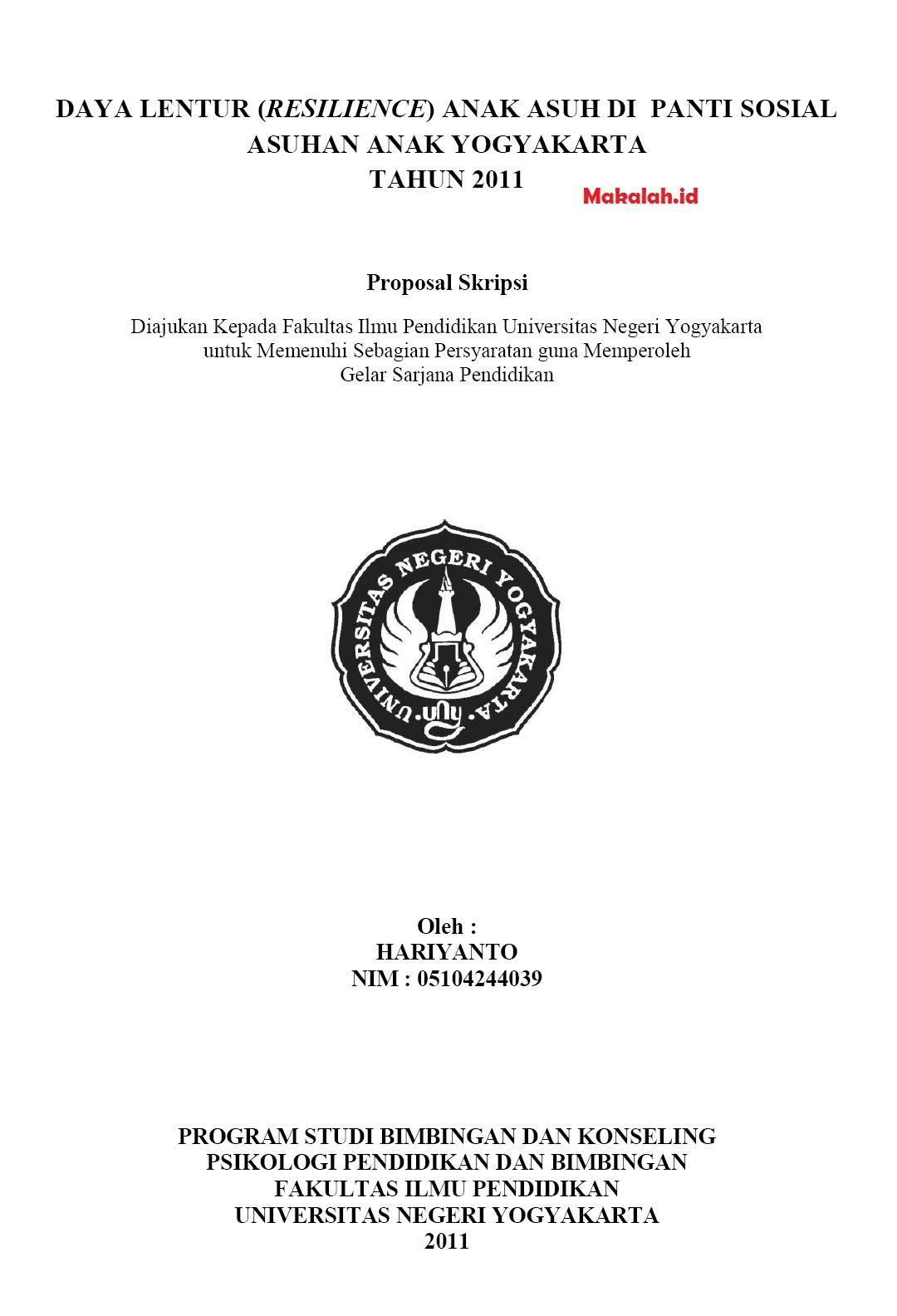 Pengertian Dan Contoh Proposal Pengajuan Judul Skripsi