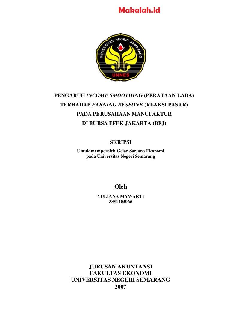 Contoh Proposal Skripsi Akuntansi Keuangan Terbaik Untuk Mahasiswa