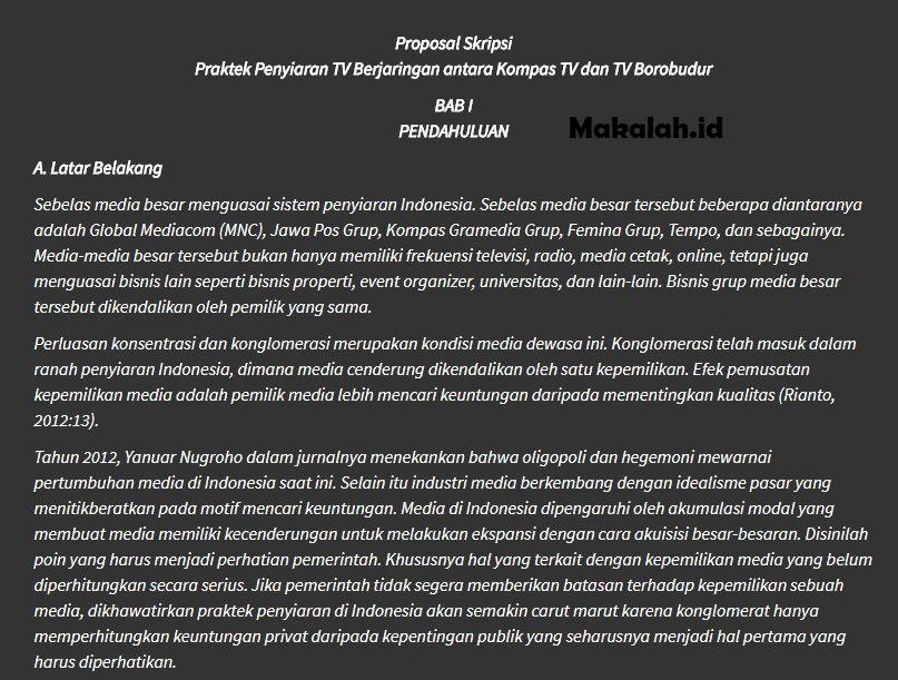 Contoh Format Proposal Skripsi Cover Judul Lembar Pengesahan