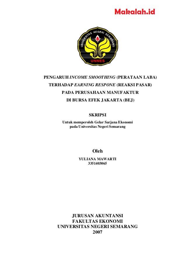 100 Judul Skripsi Akuntansi Perpajakan Langsung Acc