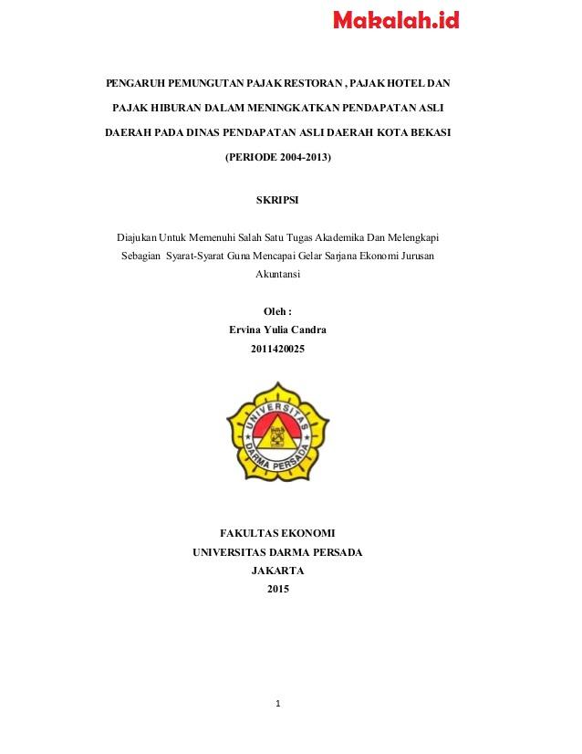 Contoh Judul Skripsi Manajemen Keuangan 2019