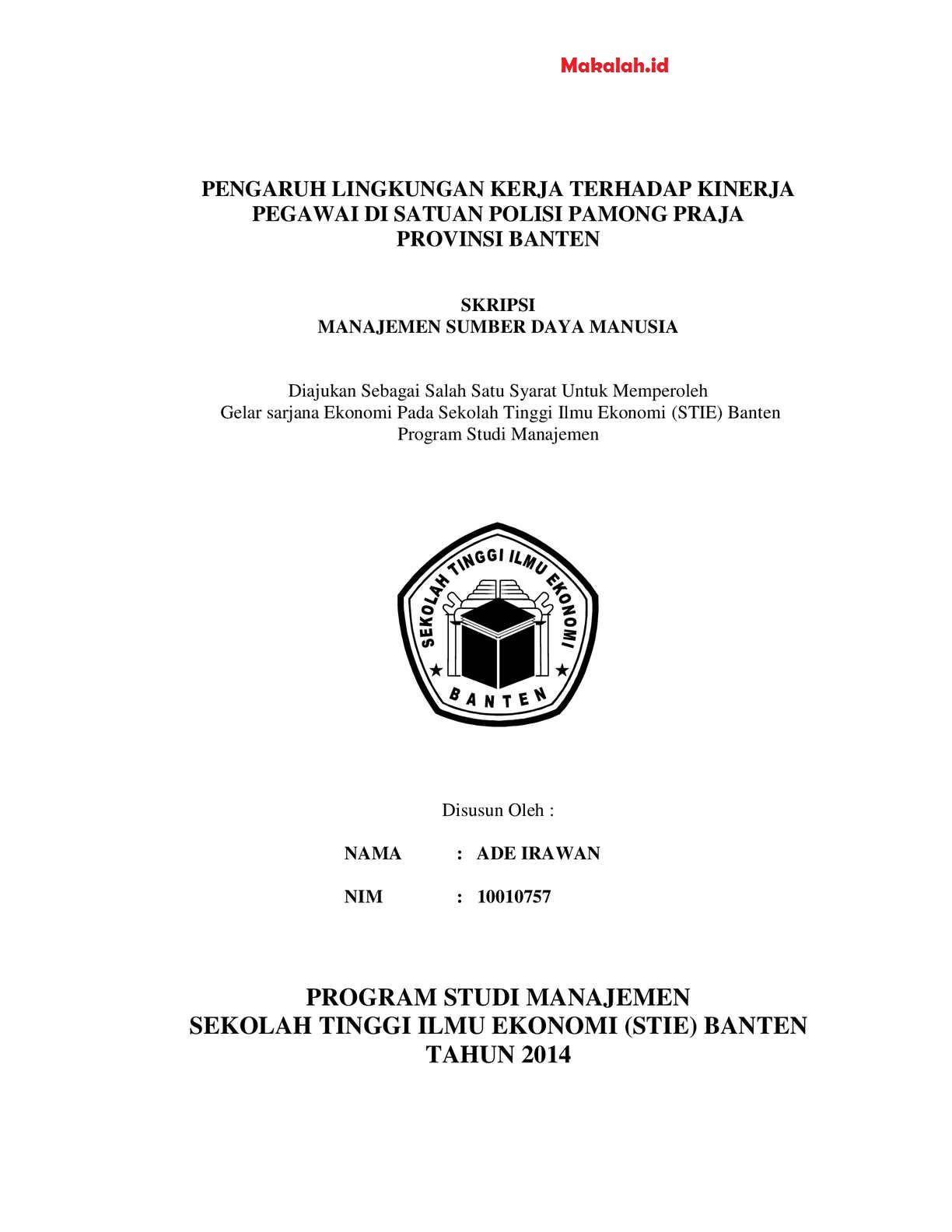 Judul Skripsi Manajemen Sdm Terbaru 2018