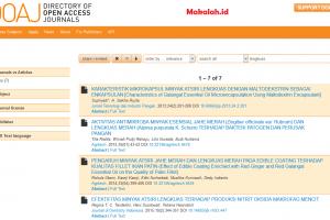 Cara mencari jurnal internasional gratis di DOAJ