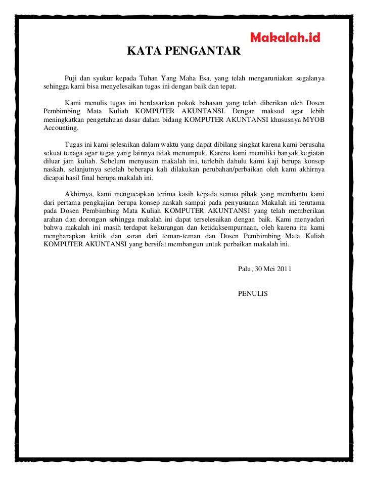 Contoh Kata Pengantar Proposal Penelitian Skripsi