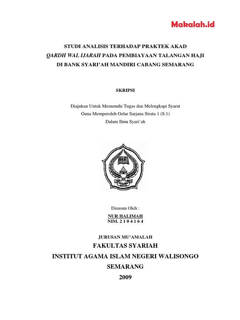 150 Judul Skripsi Ekonomi Islam Terbaik 2019