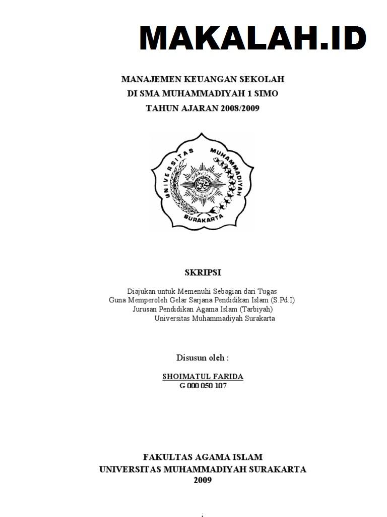 Judul Skripsi Manajemen Keuangan Umkm