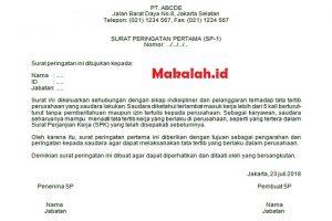 contoh surat peringatan karyawan