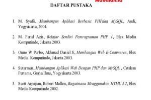contoh daftar pustaka proposal