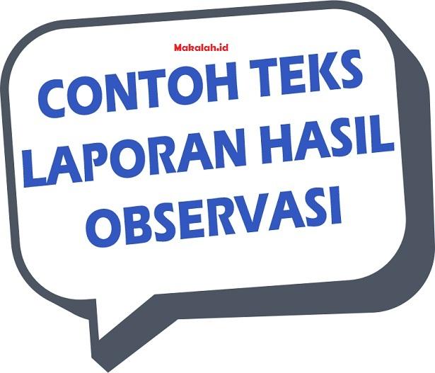 4 Contoh Teks Laporan Hasil Observasi Singkat